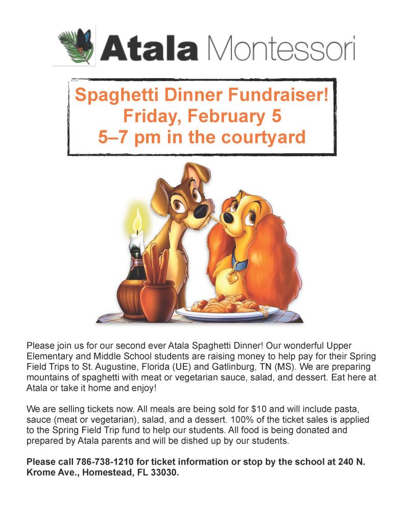 spaghetti dinner ad